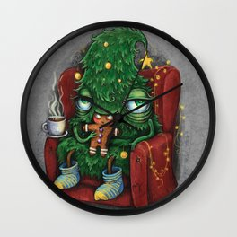 Tree eats a cookie Wall Clock