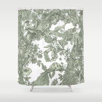 leaf Shower Curtains featuring Leaf  by Maethawee Chiraphong