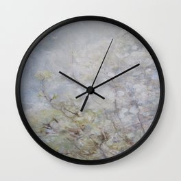 White Blossom Flowers Wall Clock