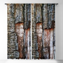 Tree Bark close up Blackout Curtain