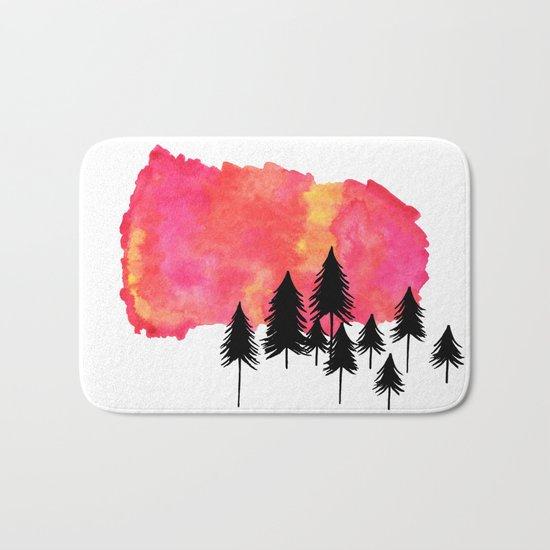Forest Fire Bath Mat