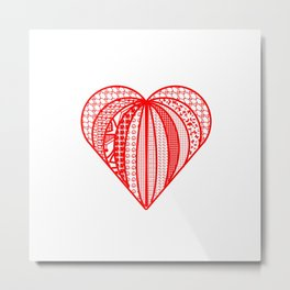 red heart . artlove Metal Print