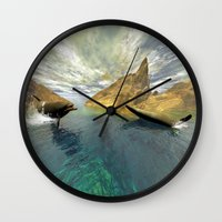 dolphins Wall Clocks featuring Dolphins by nicky2342