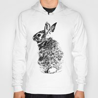 rabbit Hoodies featuring Rabbit by Anna Shell