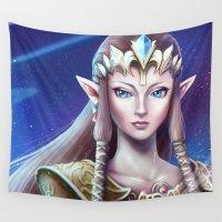 zelda Wall Tapestries featuring Zelda by Emeraldus
