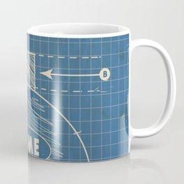 Acme Spherical Bomb vintage Blueprint Coffee Mug