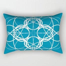 Blue White Swirl Rectangular Pillow