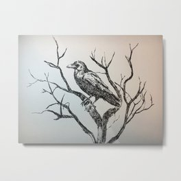 The gigantic raven Metal Print