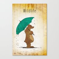 wildlife Canvas Prints featuring Wildlife by AhaC