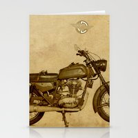 ducati Stationery Cards featuring Ducati motorcycle Meccanica by Larsson Stevensem