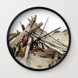 Nehalem Bay Beach Fort Wall Clock