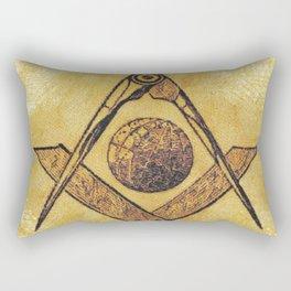 Freemason, Mason, Masonic, Lodge, Symbol, Setsquare, Compass Rectangular Pillow