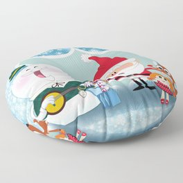 Holly Jolly Holiday Floor Pillow