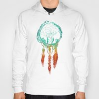 ethnic Hoodies featuring Dream Catcher (the rustic magic) by Picomodi