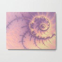 Glowing Spiral Fractal Metal Print
