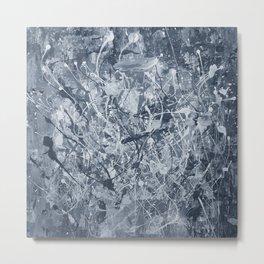 Abstract black painting Metal Print