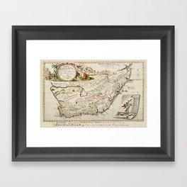 Map Of South Africa 1793 Framed Art Print