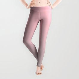 Elegant gradient blush pink - grey Leggings