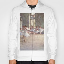 Ballet Rehearsal 1873 By Edgar Degas Reproduction by the Famous French Painter Dance Class Scene Hoody