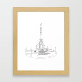 Indianapolis Circle - One Line Framed Art Print