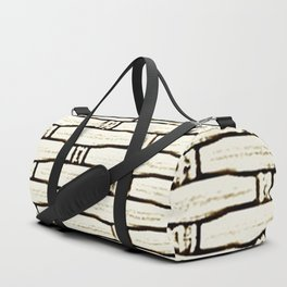 Natural Woven Cane Duffle Bag