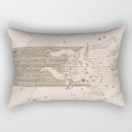 Johann Bayer - Uranometria / Measuring the Heavens (1661) - 21 Taurus Rectangular Pillow