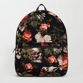 Floral and Skull Dark Pattern Backpack