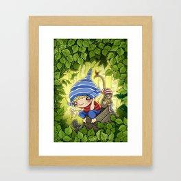 Secret Hiding Place Framed Art Print