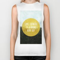 brand new Biker Tanks featuring Brand New Day by serenefolio