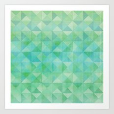 Green/Blue : Pattern Art Print