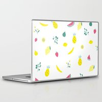 fruits Laptop & iPad Skins featuring Fruits by haroulita