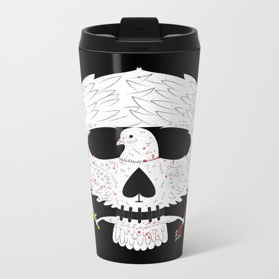 Dove of Death Metal Travel Mug