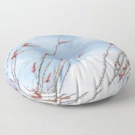 Budding Ocotillo by Murray Bolesta Floor Pillow