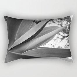 Black & White Succulent Rectangular Pillow