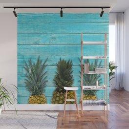 Pineapple summer Wall Mural