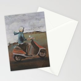 She Rode Along Stationery Cards