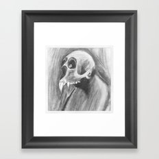 Skull with fangs Framed Art Print