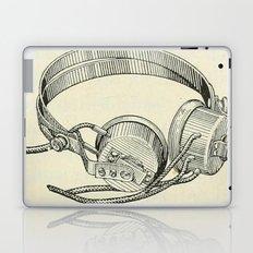Old school headphones. Laptop & iPad Skin