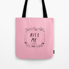 Kiss Me - Pink Tote Bag