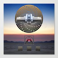 stargate Canvas Prints featuring STARGATE: BRC by Adam Yasmin