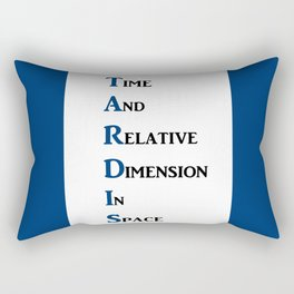 Tardis Doctor Who Time and Relative Dimension in Space Rectangular Pillow