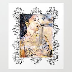 Caliber Love #4 Ornate Art Print