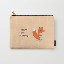 Fox & Duck - I Accept Our Differences Carry-All Pouch