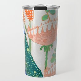 Proteas and Birds of Paradise Painting Travel Mug
