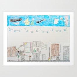 Kelly Bruneau #10 Art Print