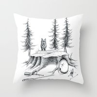 teen wolf Throw Pillows featuring Teen Wolf by xxdanaja
