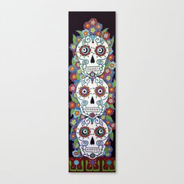 Sugar Skull Totem Canvas Print