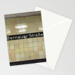 Berlin U-Bahn Memories - Bernauer Straße Stationery Cards