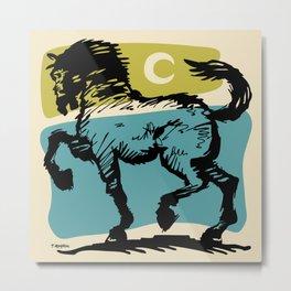 Crescent Horse 2 Metal Print