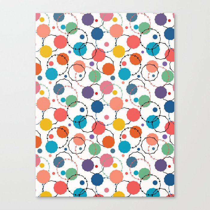 Abstract Organic Cut Out Dot Shapes Vector Pattern Seamless Background Canvas Print By Limolida